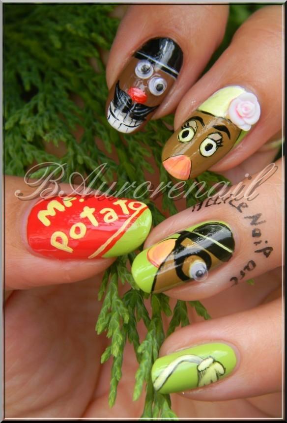 nail art Mr Patate 1