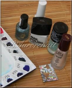 nail art aquarelle sur vernis texturé claire's