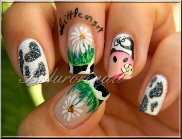 nail art vache 1