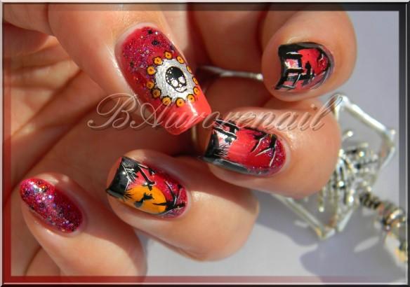 nail art cimetiére halloween 8