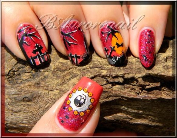 nail art cimetiére halloween 9