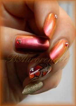 nail art vernis cameleon et fleur one stroke 10