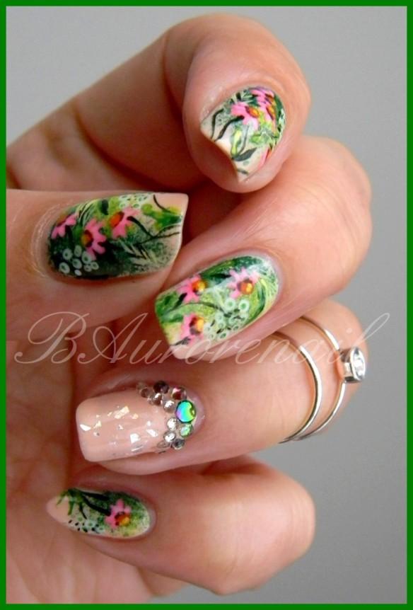 nail art champétre 1