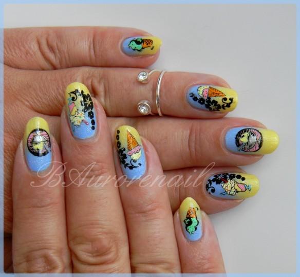 nail art glace d'été 8
