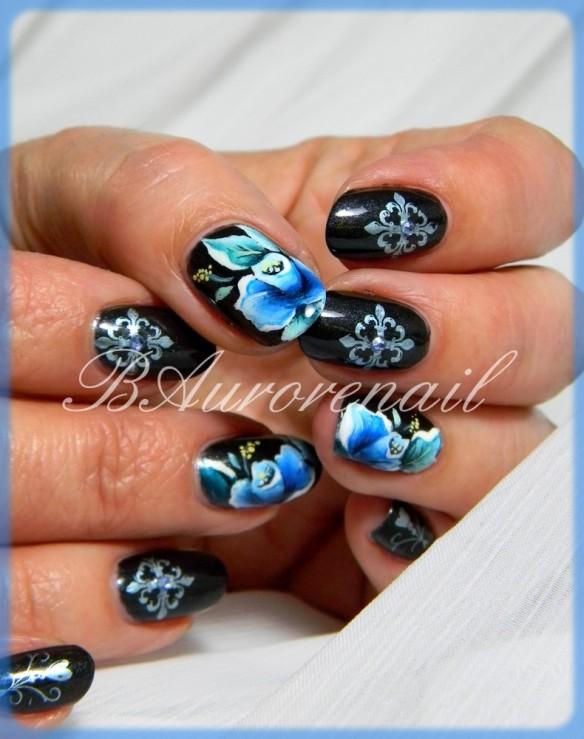 fleur bleu one stroke 2