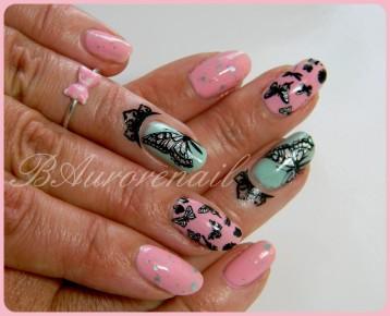 nail art foil sur papillon 7